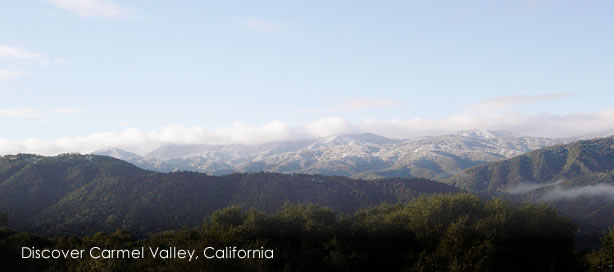Looking south from Los Tulares, snow dusts the Ventana Wilderness....